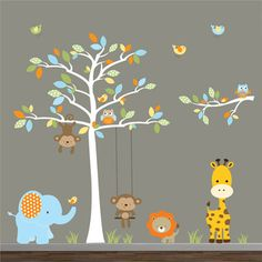 Jungle Wall Decal, perfect for any baby boys bedroom.