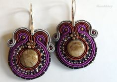 Soutache earrings Browny by MumandMary on Etsy