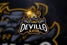 Devillo Slayer - Mascot & Esport Log by AQR Studio on Creative Market - Picturess Online King Cobra, Creative Logo, Logan, Gaming Logo, Birthday Background Images, Graffiti, Game Logo Design, Logo Desing, E Sport