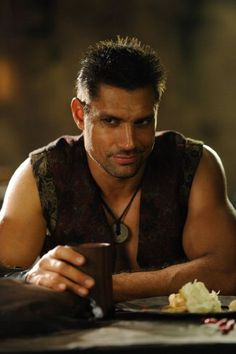 """Crixus, The Undefeated Gaul"" - Manu Bennett (Spartacus):"