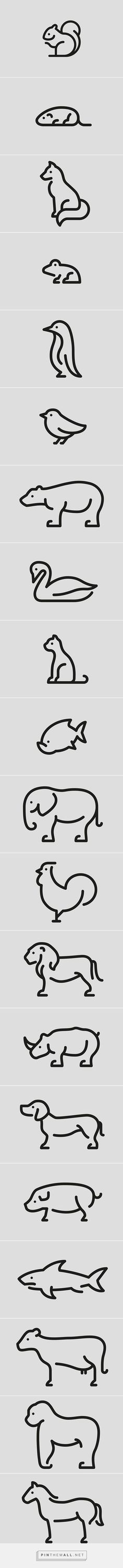 Discover thousands of images about One line - Animal logos on Behance Logo Design, Icon Design, Ppt Design, Design Ideas, Logo Inspiration, Animal Logo, Animal Tattoos, Animal Design, Line Drawing