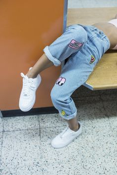 Jeans of your dreams Mehr 90s Fashion, Korean Fashion, Fashion Outfits, Cool Outfits, Summer Outfits, Diy Mode, All Jeans, My Wardrobe, Style Me