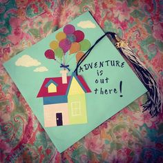 6 Creative Ways to Decorate Your Graduation Cap: One of the scariest but most exciting parts about graduation? Anticipating what's next.   Source: Instagram user kwask