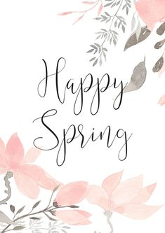 """"" Happy Spring – Let's Celebrate with a Lovely Free Printable """" Feliz primavera – Celebremos con una hermosa imprimible gratis """" Happy Spring, Spring Home, First Day Of Spring, Frühling Wallpaper, Easter Wallpaper, Spring Quotes, Spring Sayings, Diy Organizer, Spring Aesthetic"