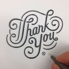 Thank You typography & hand lettering ©Anthony Hos