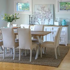 Byron 2300 Dining Package with Maxwell Chairs (Table - 2300W x 900D x 785H mm. Chair - 460W x 640D x 1000H mm) RRP $1,877