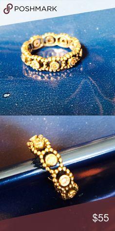 Pandora ring Pandora ring with pink stones Pandora Jewelry Rings