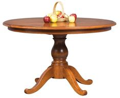 Amish Lisle Single Pedestal Extension Dining Table Solid wood single pedestal table. Customize in the wood and finish you like best. Amish made in America. #DutchCrafters