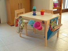 "Art table made from Ikea table! Cool website also about how to ""hack"" Ikea furniture. Ikea Hackers, Ikea Kids Table, Kids Play Table, Toddler Table, Ideas Para Organizar, Best Ikea, Kid Spaces, Kids Furniture, Table Furniture"