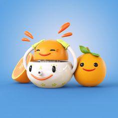 Happy Squeezer | Designer: Teodoru Badiu #characterdesign