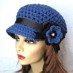 Winter knit hat for women Crochet Yarn, Crochet Flowers, Hand Crochet, Free Crochet, Winter Knit Hats, Cotton Hat, Couture, Womens Scarves, Hats For Women
