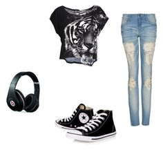 """""""Freedom"""" by lula-sagretti ❤ liked on Polyvore featuring MANGO, Converse and Beats by Dr. Dre"""