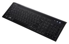 Perixx PERIBOARD-311, Illuminated Ultrathin Keyboard - Wired USB - White LED Backlit Feature - 17.00