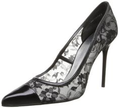 Stuart Weitzman Women's Lace Pump,Black,9.5 M US * Read more reviews of the product by visiting the link on the image.