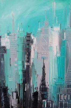 Httplacarpatumblrcompostabstractcityscapesby - City skylines turned into geometric metropolises by scott uminga