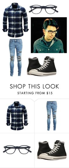 """Nate-One Last Time"" by rhydianwolf on Polyvore featuring AMIRI, Converse, men's fashion and menswear"
