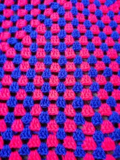 Pink and Blue Blanket Pink and Blue Afghan Pink and Blue