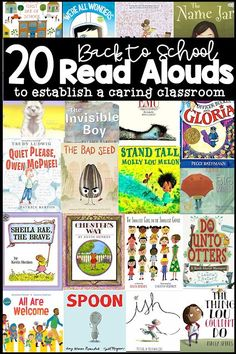 Back to School September Interactive Read-Alouds 20 Back to School Read Alouds to Establish a Caring Classroom - Queen of the First Grade Jungle First Grade Books, Teaching First Grade, First Grade Classroom, First Day Of School Activities, 1st Day Of School, Beginning Of The School Year, Back To School, Kindergarten Reading, Teaching Reading