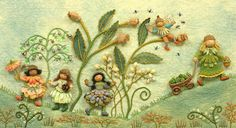 ...by Salley Mavor ...felt, applique, stumpwork, embroidery-Wow! This is amazing!!