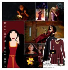 """Mother Gothel//Disney"" by thoughtandfashion ❤ liked on Polyvore featuring Villain, Bomedo, Pierre Cardin, Chicnova Fashion, Oscar de la Renta, Yves Saint Laurent, Furla and Kenneth Jay Lane"