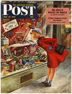 Saturday Evening Post -- wow -- I'd sure like a broom for Mothers' Day!!