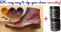 easy coloring of shoes