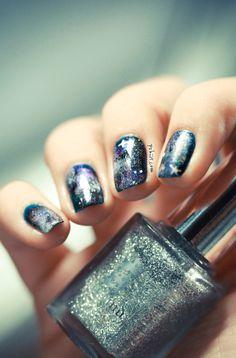 Galaxy Nails #nailart #nails