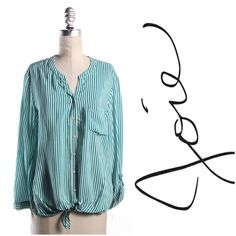 Striped Button Up Long sleeve striped Joie blouse Joie Tops