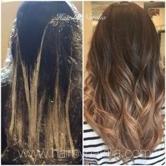 Caramel Balayage highlights. Balayage technique. Balayage in Denver. www.hairbynatalia.com #balayagedenver by rena