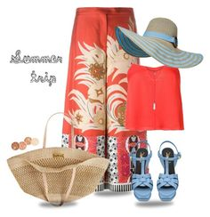 """""""Summer trip!"""" by susli4ek ❤ liked on Polyvore featuring Etro, Yves Saint Laurent, Flora Bella and T By Alexander Wang"""