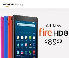 Fire HD 8 Tablet with Alexa, HD Display, 16 GB, Black - with Special Offers (Previous Generation - Dolby Audio, Amazon Specials, Alexa Voice, Cute Gifts, Wifi, First Love, Display, Horde, Christmas 2016
