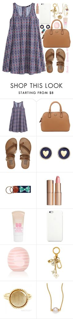 """""""Like to be on my taglist"""" by sarahc01 ❤ liked on Polyvore featuring H&M, Tory Burch, Billabong, Brooks Brothers, Charlotte Tilbury, Maybelline, Topshop, Louis Vuitton and Majorica"""