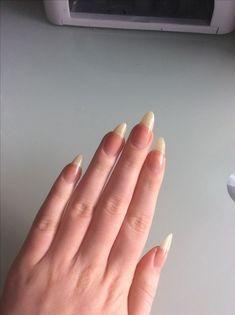 New Nails Long Natural Coffin Ideas Natural Nail Designs, Long Nail Designs, Nail Polish Designs, Nails Design, Long Natural Nails, Long Nails, Hair And Nails, My Nails, Blue Nails