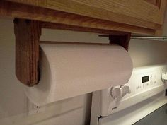 Solid Oak Paper Towel Holder Wall Or Under Cabinet