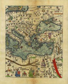 Atlas catalan de 1375 - Eastern Mediterranean, Western Asia and Northeastern Africa