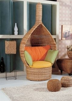 i am very much attracted to wicker chairs
