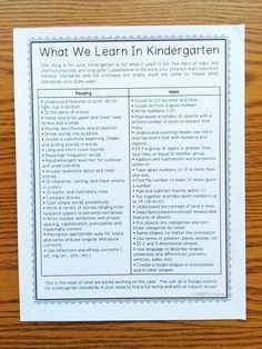 Free Back to School Parent Packet for kindergartener from Simply Kinder  #backtoschool #reading #math #thingstoworkon #kindergartenreadiness