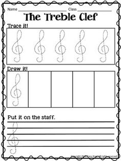 Music Tracing Worksheets by The Bulletin Board Lady-Tracy King Tracing Worksheets, Piano Lessons, Music Lessons, Music Education, Health Education, Physical Education, Music Activities, Movement Activities, Music Classroom