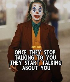 Joker Love Quotes, Joker Qoutes, Heath Ledger Joker Quotes, Badass Quotes, Good Night Quotes, Good Thoughts Quotes, Good Life Quotes, Quotes About Attitude, Positive Attitude Quotes