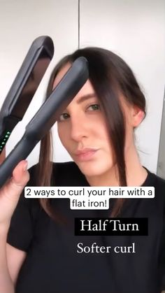 Hair Tips Video, Hair Videos, Curl Hair With Straightener, Curling Hair Hacks, Curling Short Hair, Curled Hairstyles, Pretty Hairstyles, Simple Hairstyles, Hairdos