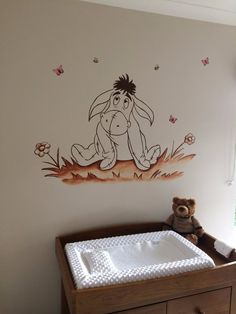 Winnie the Pooh Eeyore Nursery Murals www.custommurals.co.uk