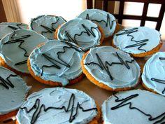 EKG cookies for nursing school graduation party