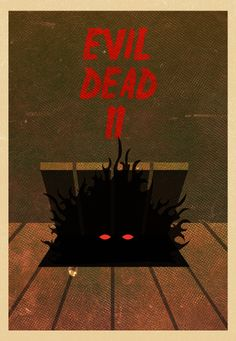 Evil Dead II - Minimalist movie poster design | By: Tim Staszak of Block Club Creative