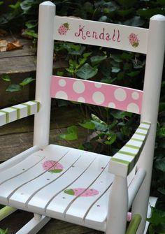 paint a little girlu0027s chair cute and pretty - Google Search & Little girls rocking chair I painted. | My Art Album | Pinterest ...