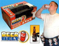 Introducing the BEER BELT! Finally, an invention that holds a six-pack without your hands!    Each belt is constructed with waterproof ballistic nylon. An oversized buckle and waist strap makes the belt extremely durable and it will withstand the hardest of partiers.