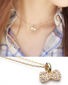 Buy 'kitsch island – Swarovski Crystal Bow Necklace' with Free International Shipping at YesStyle.com. Browse and shop for thousands of Asian fashion items from South Korea and more!