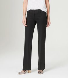 Trouser-fit pants are classic and great for more conservative environments. Pick a dark color you love!