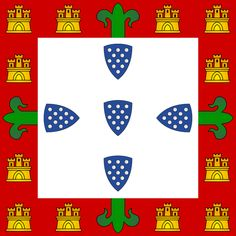 Portuguese national flag  1385-1485.