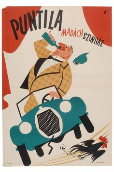 : Both Béla (Madách Színház); Vintage Posters, Vintage Art, Drupal, Old Ads, Vintage Advertisements, Disney Characters, Fictional Characters, Alcohol, Graphic Design