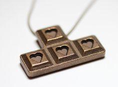 Tetris love pendant #geek #gamer